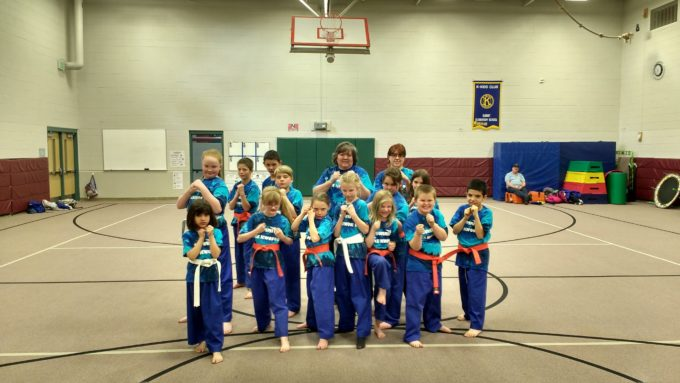 Tae Kwon Do Students posing