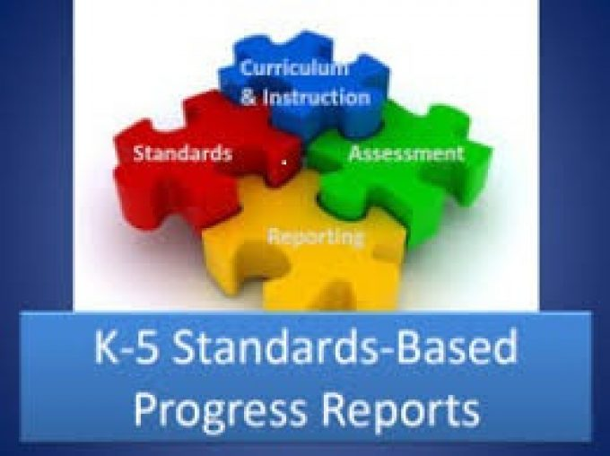 puzzle pieces for standards based progress reports