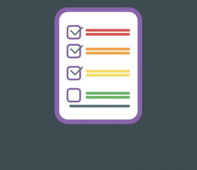 colorful checklist