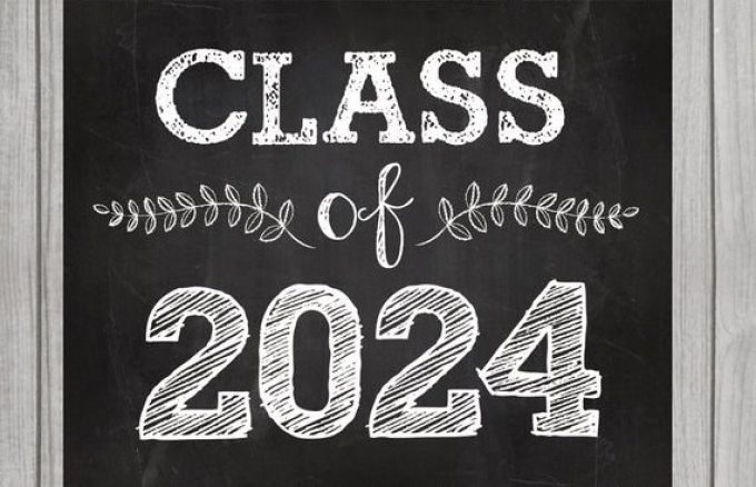Class of 2024 black and white logo