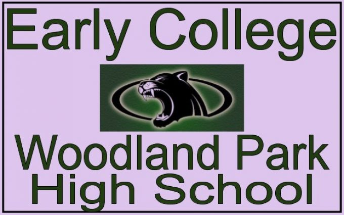 woodland park high school early college options and panther logo
