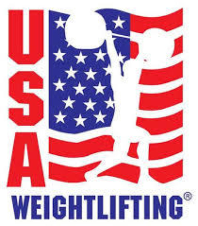 US weightlifting club logo